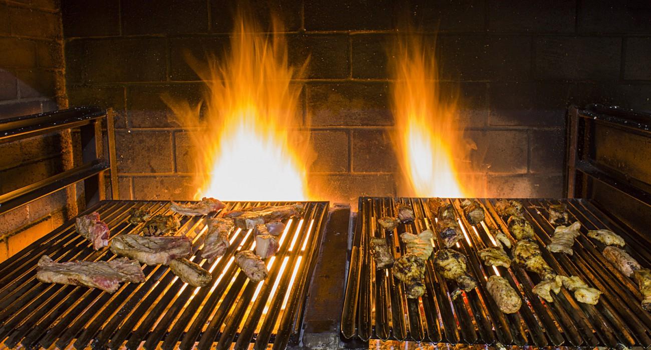 fiamme griglia